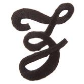Black Letter Iron-On Applique - Z