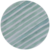 Turquoise & White Striped Plate