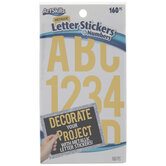 Gold Letter & Number Stickers