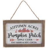 Orange Pumpkin Patch Wood Ornament