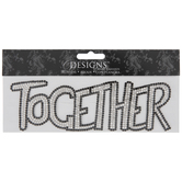 Together Rhinestone Iron-On Applique