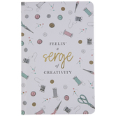 Feelin A Serge Of Creativity Hardcover Notebook