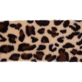 Leopard Print Faux Fur Trim