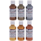 Metallic Art-I-San Tempera Paints - 6 Piece Set