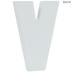 White Wood Letters V - 2