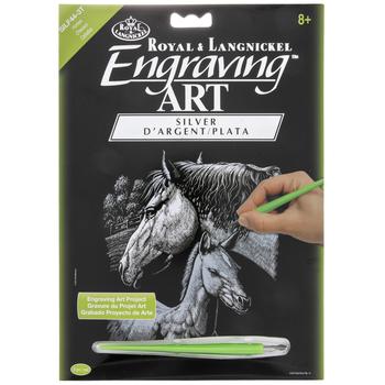 Silver Foil Horses Engraving Art Kit