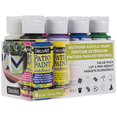 Assorted DecoArt Outdoor Patio Acrylic Paint Value Pack