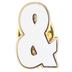 White Symbol Metal Pin - &