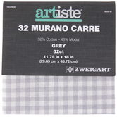Grey 32-Count Murano Carre Cross Stitch Fabric