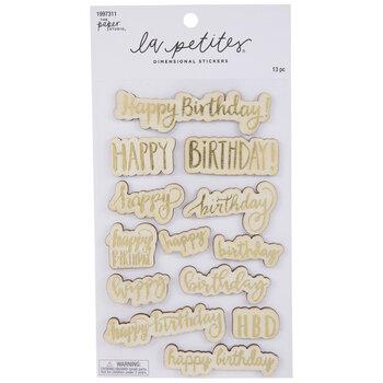 Happy Birthday Wood Stickers