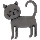 Gray Cat Shank Buttons
