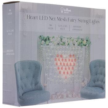 Heart Net Mesh Fairy LED Lights