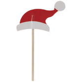 Santa Hat Cupcake Toppers