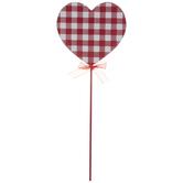 Gingham Heart Pick