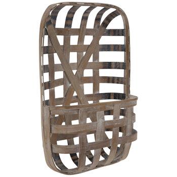 Whitewash Wood Wall Basket