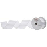 "White Pearl Edge Satin Ribbon - 2 1/2"""