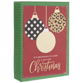 Patterned Ornaments Christmas Cards