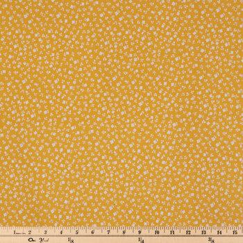 Yellow Flower Apparel Fabric