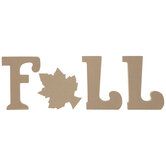 Fall Standing Wood Letters