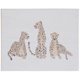 Cheetah Trio Wood Decor
