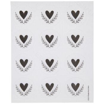 Heart & Branches Envelope Seals