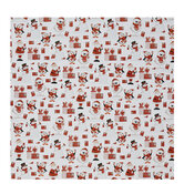 Red & White Christmas Icons Gift Wrap