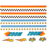Stars, Flames & Checkers Dry Transfer Decals
