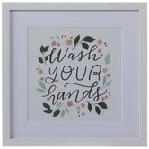 Wash Your Hands Framed Wall Decor