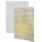 O Come Let Us Adore Him Ornament Cards