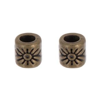Starburst Tube Beads - 4mm x 4mm