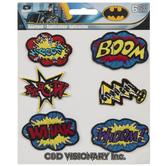 Batman Comic Words Iron-On Appliques