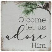 O Come Let Us Adore Him Magnet