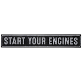 Start Your Engines Wood Wall Decor