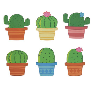 Potted Cactus Cutouts