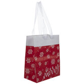 Be Merry Snowflakes Gift Bag