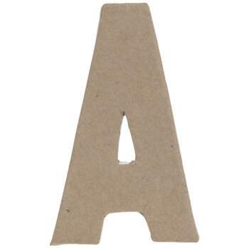 "Paper Mache Letter A - 4"""