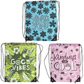 Kindness & Good Vibes Drawstring Backpacks