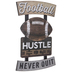 Football Never Quit Wood Wall Decor