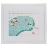 Pool With Floats Framed Wall Decor