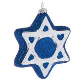 Star Of David Glitter Ornament