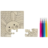 Easter Bunny Wood Puzzles Craft Kit