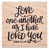 John 13:34 Rubber Stamp