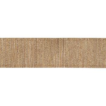 "Gold Metallic Striped Wired Edge Ribbon - 1 1/2"""