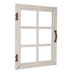 Cream Window Wood Wall Decor