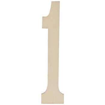 Vintage Sign Wood Numbers - 1