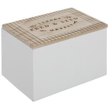 Feed & Seed Wood Box