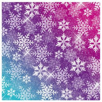 "Holiday Magic Snowflakes Scrapbook Paper - 12"" x 12"""