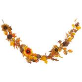 Gourd, Pinecone, Sunflower & Leaf Garland