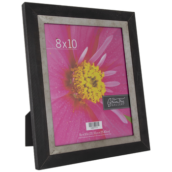 "Black Wood Frame With Galvanized Fillet - 8"" x 10"""