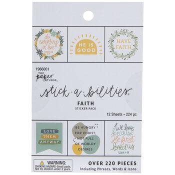 Faith Floral Stickers
